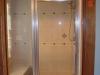 completed custom glass shower door